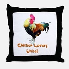 Chicken Lovers Throw Pillow