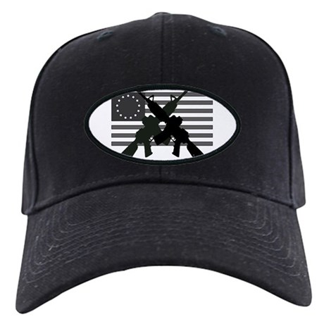 AR-15 and Revolutionary Flag Baseball Hat
