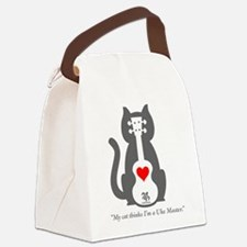 Cat Uke Canvas Lunch Bag