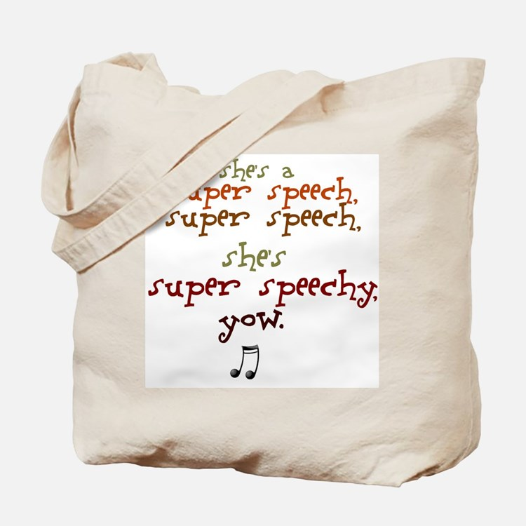 Cute Speech therapy funny Tote Bag
