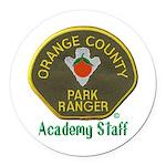 Orange County Ranger Academy Staff Round Car Magne