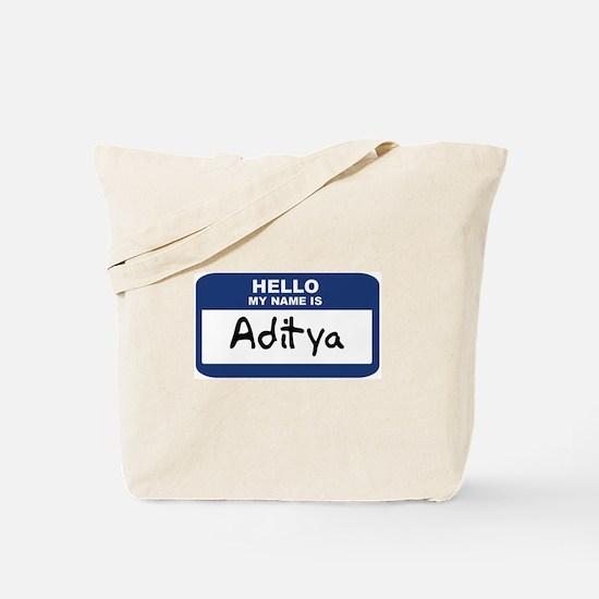 Hello: Aditya Tote Bag