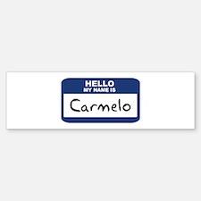Hello: Carmelo Bumper Bumper Bumper Sticker