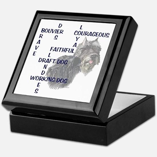 BOUVIER CROSSWORD Keepsake Box
