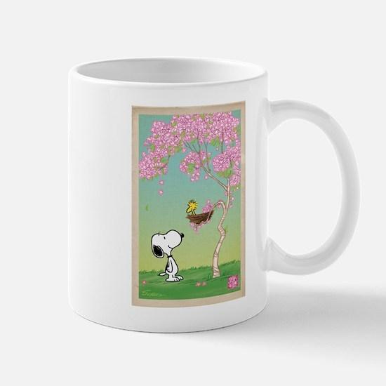 Woodstock in Cherry Blossoms Mugs