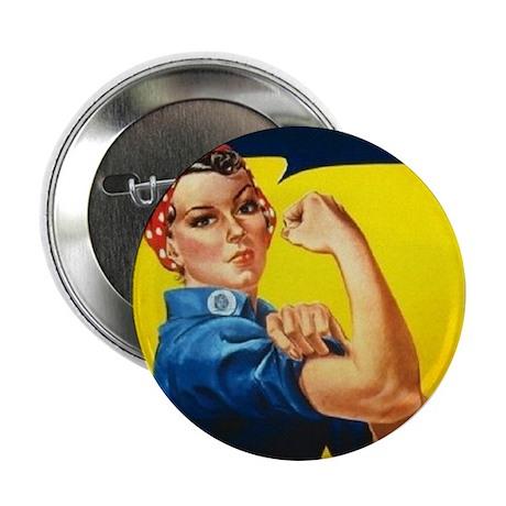 """Rosie Ironman 2.25"""" Button"""
