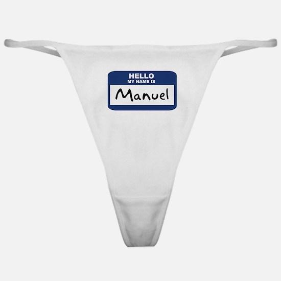 Hello: Manuel Classic Thong