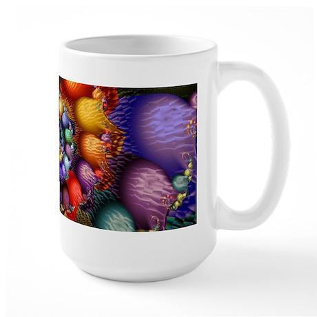Textured Fractal Spiral Large Mug