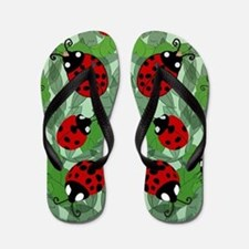 Unique Ladybugs Flip Flops