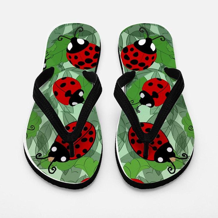 Cute Botanical Flip Flops