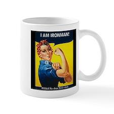 Rosie Ironman Black Background Mug