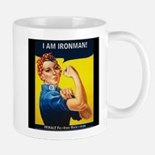 Rosie Ironman Black Background Mug