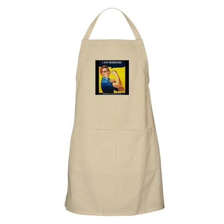 Rosie Ironman Black Background Apron