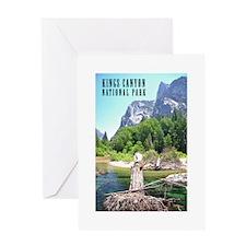 Kings Canyon National Park Tall Greeting Card