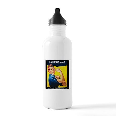 Rosie Ironman Blackground Water Bottle