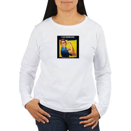 Rosie Ironman Blackground Long Sleeve T-Shirt