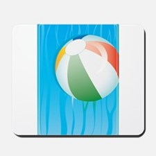 Floating Beach Ball on Water Mousepad