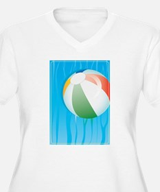 Floating Beach Ball on Water Plus Size T-Shirt