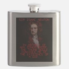 In Default Of Any Other Proof - Isaac Newton Flask