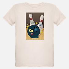 Hilarious Bowling Ball and Pins T-Shirt