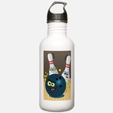Hilarious Bowling Ball and Pins Water Bottle