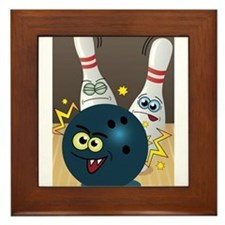 Hilarious Bowling Ball and Pins Framed Tile