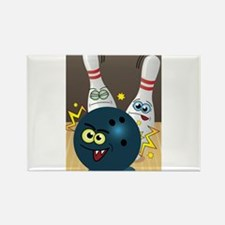 Hilarious Bowling Ball and Pins Rectangle Magnet