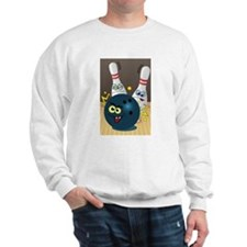 Hilarious Bowling Ball and Pins Sweatshirt