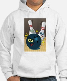 Hilarious Bowling Ball and Pins Hoodie