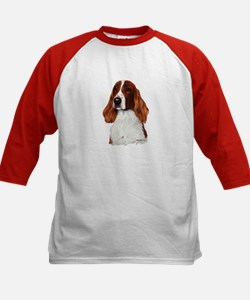 Irish Red & White Setter Kids Baseball Jersey