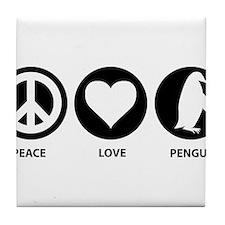Cute Penguin love Tile Coaster