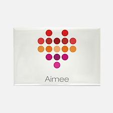 I Heart Aimee Rectangle Magnet