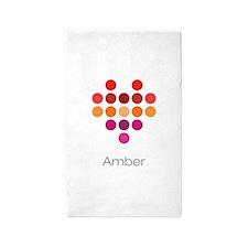 I Heart Amber 3'x5' Area Rug
