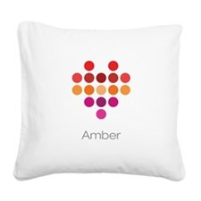 I Heart Amber Square Canvas Pillow