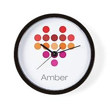I Heart Amber Wall Clock