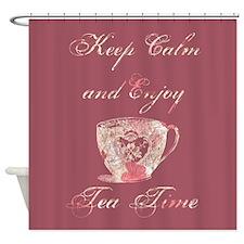 Keep Calm Tea Shower Curtain