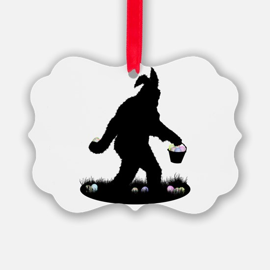 Easter Squatchin Ornament