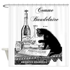 Vintage Cat Shower Curtain