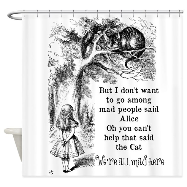 Curtains Ideas alice in wonderland curtains : Vintage Alice in Wonderland Cat Shower Curtain by be_inspired_by_life