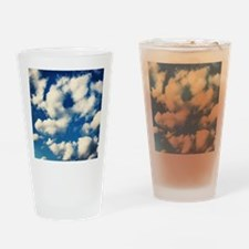 Fluffy Clouds Print Drinking Glass