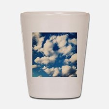Fluffy Clouds Print Shot Glass