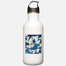 Fluffy Clouds Print Water Bottle