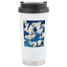 Fluffy Clouds Print Travel Mug