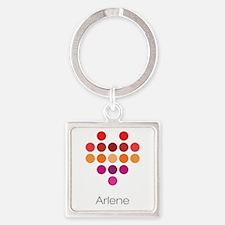 I Heart Arlene Square Keychain