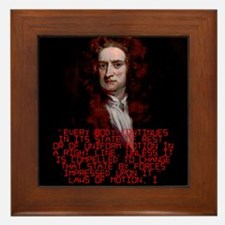 Laws of Motion 1 - Isaac Newton Framed Tile