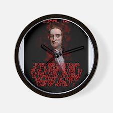 Laws of Motion 1 - Isaac Newton Wall Clock