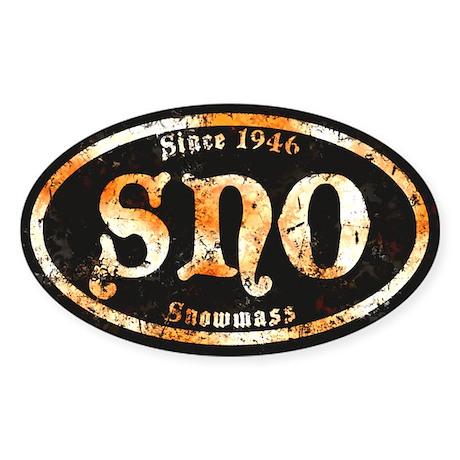 Snowmass Derelict Grunge Sticker (Oval)