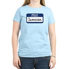 Hello: Jameson Women's Pink T-Shirt