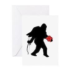 Valentine Sasquatch Greeting Card