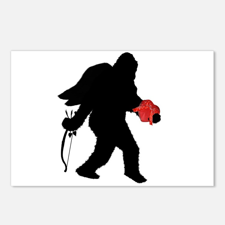 Valentine Sasquatch Postcards (Package of 8)